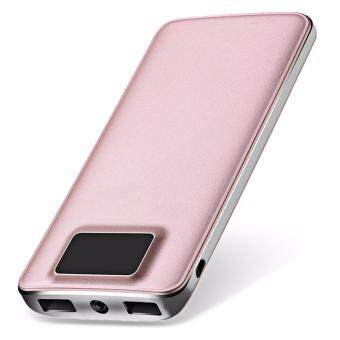 Super Slim Digital 20000mAh Power Bank Mobile Power Bank External Battery Dual USB Port with LCD Power Display Screen Ultra Slim Powerbank