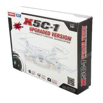 Syma X5C-1 Gyro RC Quadcopter Drone UFO with 2MP Camera - White