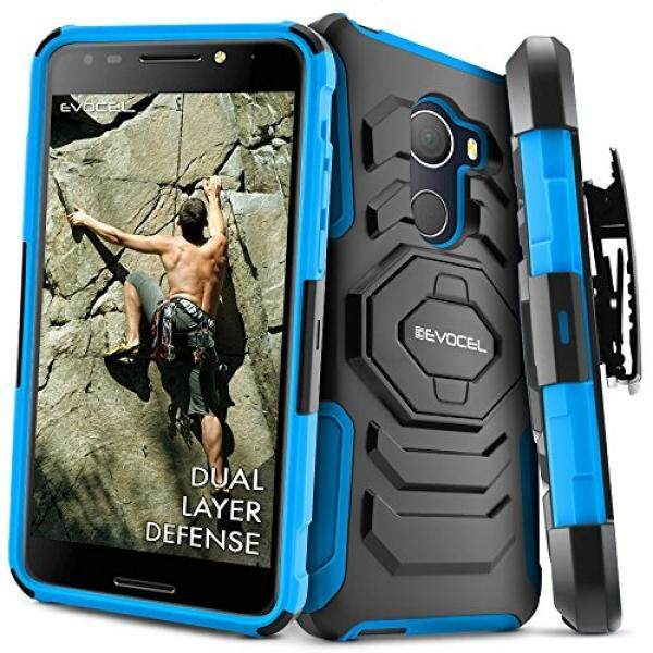 T-Mobile REVVL Case, Evocel [New Generation] Rugged Holster Dual Layer Case [Kickstand][Belt Swivel Clip] For Alcatel Walters / T-Mobile REVVL (5049W), Blue (EVO-ALWALTERS-XX02) - intl