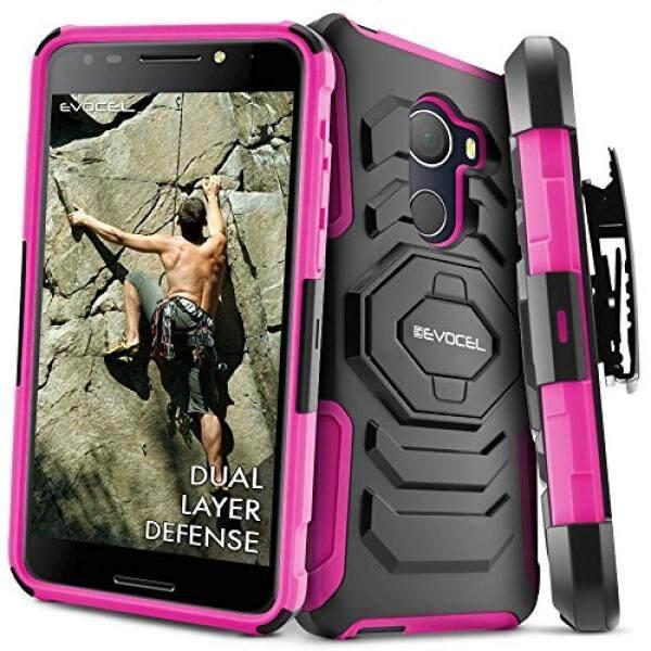 T-Mobile REVVL Case, Evocel [New Generation] Rugged Holster Dual Layer Case [Kickstand][Belt Swivel Clip] For Alcatel Walters / T-Mobile REVVL (5049W), Pink (EVO-ALWALTERS-XX05) - intl