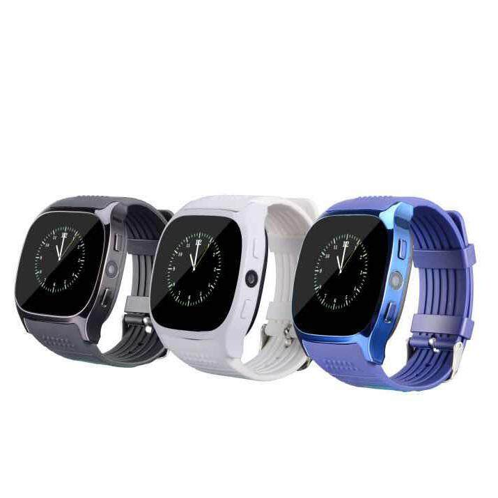 T8 2G Watch Pintar Telepon 1.54 Inch Bluetooth 3.0 Smartwatch Mendukung Pedometer Rana .