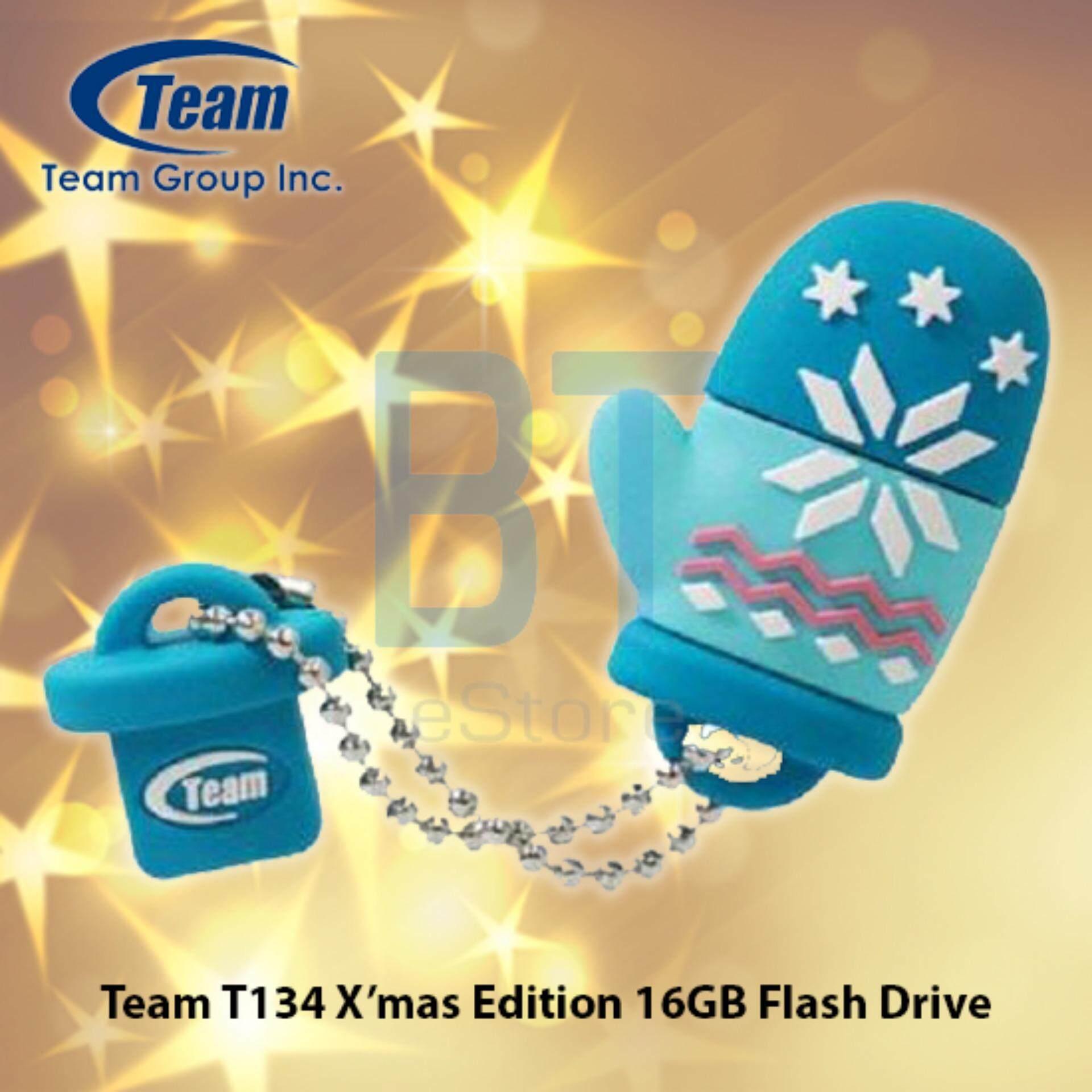 Team T134 X'mas Edition 16GB USB2.0 Flash Drive (Blue)