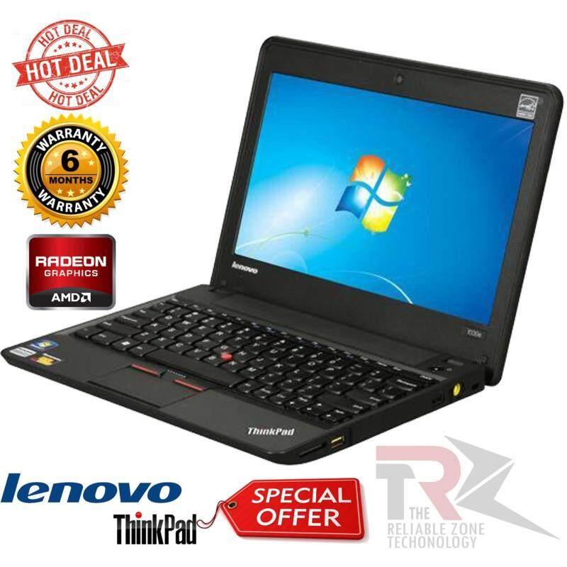 ThinkPad Laptop X Series X130e (062223U) AMD Dual-Core Processor E-450 (1.65 GHz) 4 GB Memory 320 GB HDD AMD Radeon HD 6320 11.6 Windows 7 Professional 64-Bit (BOX PACK) Malaysia