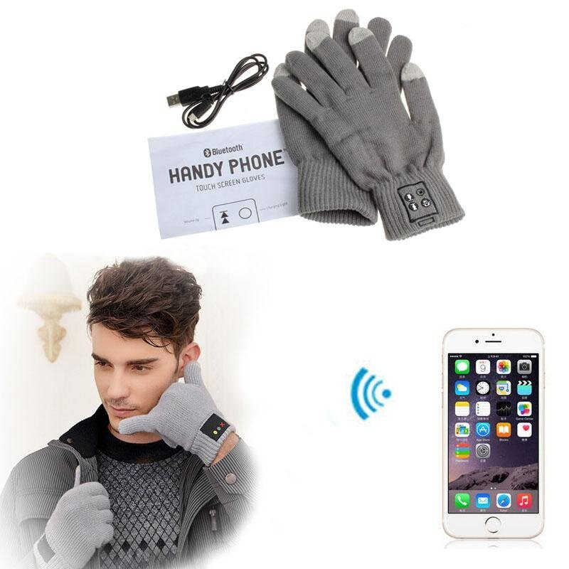 Touch Screen Bluetooth 3.0 Talking Gloves Headset Speaker For Smart Phone GY - intl