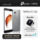 TP-Link Neffos X1 Lite (2 Years Warranty, Fast Fingerprint Sensor, Octa-Core CPU, Android 7.0, 4G Dual Sim, Grey/Gold)
