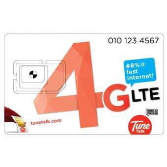 Malaysia Prices Tune Talk Prepaid SIM Pack (4G LTE SIM) + RM75 Credit + FREE Data
