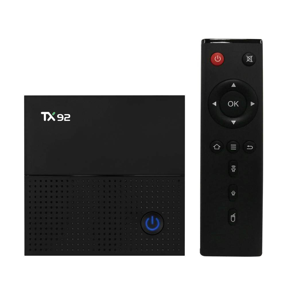 TX92 Pintar Android Televisi Kotak Android 7.1 Amlogic S912 Octa-core 64 Sedikit 3 GB/64 GB VP9 h.265 UHD 4 K 2.4G & 5G Wifi 1000 M LAN Bluetooth 4.1 DLNA HD Media Pemutar Uni Eropa steker-Internasional