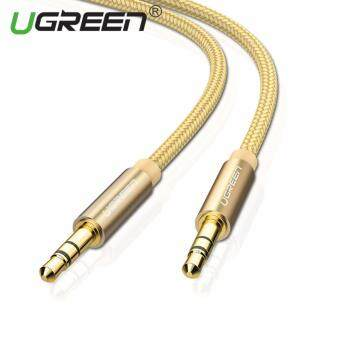 Harga UGREEN 3.5mm to 3.5 mm Jack Aux Cord Gold-Plated Metal ConnectorAudio Cable - 1m,Gold