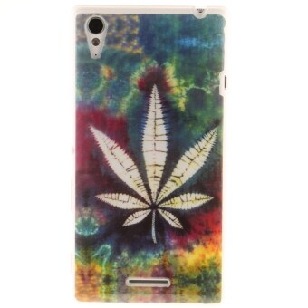 Ultra Thin Soft TPU Phone Back Case Cover For Sony Xperia T3 (Maple Leaf)