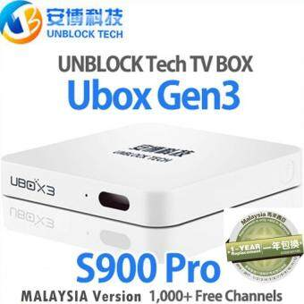 Unblock Tech Gen3 S900 Pro IPTV 16GB Android TV Box MalaysiaVersion UBOX UBTV