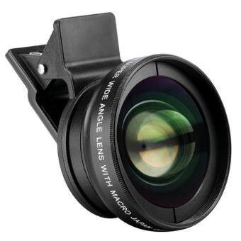 Harga Universal Camera Lens 0.45x Super Wide Angle Lens + 12.5x SuperMacro Lens for All Mobile