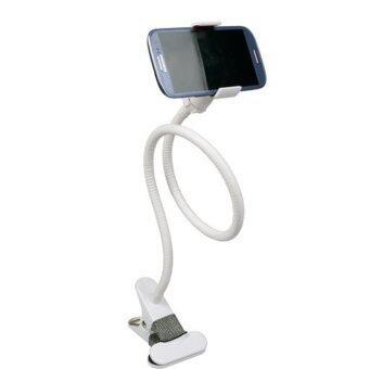 Universal Car Holder Desktop Bed Lazy Bracket Mobile Stand ForPhone GPS -White
