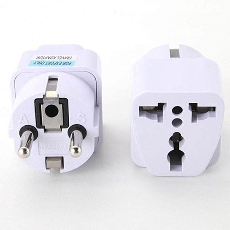 Bảng giá Universal UK US AU to EU AC Power Socket Plug Travel Charger Adapter Converter White Phong Vũ