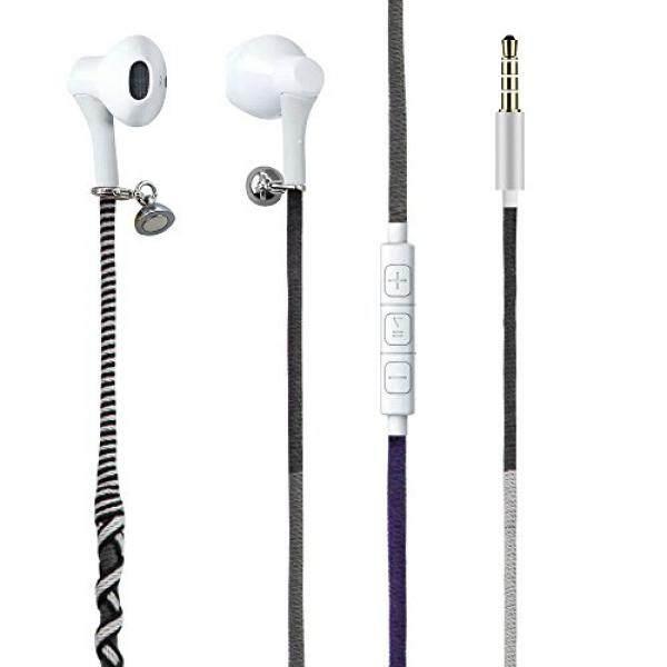 Urizons Earphone, Headphone dengan Mikrofon dan Jarak Jauh, dalam-Telinga Olahraga Headset untuk iPhone iPad IPod Mac Laptop Tablet Ponsel Pintar Android Buatan Tangan Dikepang Suku Benang Wrapped Gelang Gaya -Internasional