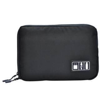 USB Flash Drives Case Organizer Bag Digital Storage Pouch Data Earphone Cable BK