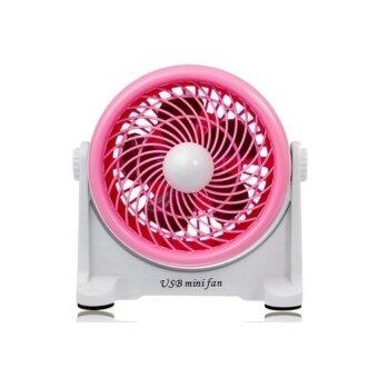 USB Mini Putar Desktop Penggemar (Merah Muda)-Internasional