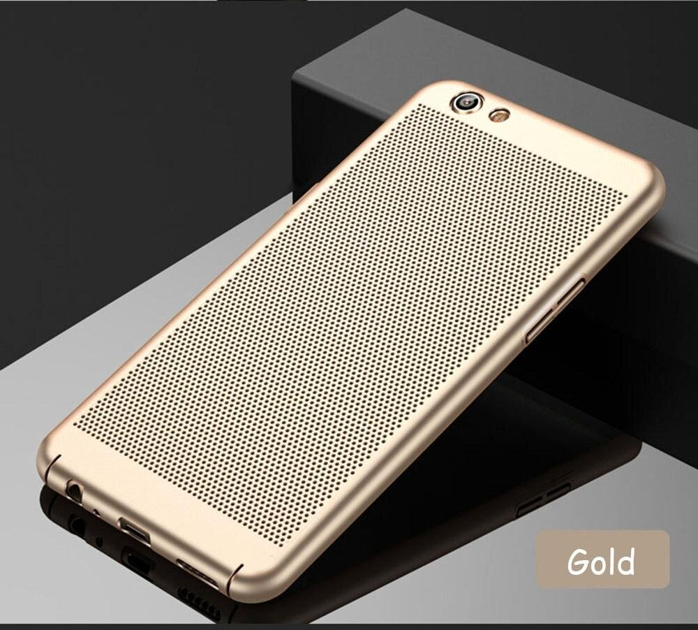 ขาย V5 Plus Case Bc Ultra Thin Durable Breathing Holes Heat Transfer Hard Pc And Soft Metal Paint Phone Case For Vivo V5 Plus ถูก ใน จีน