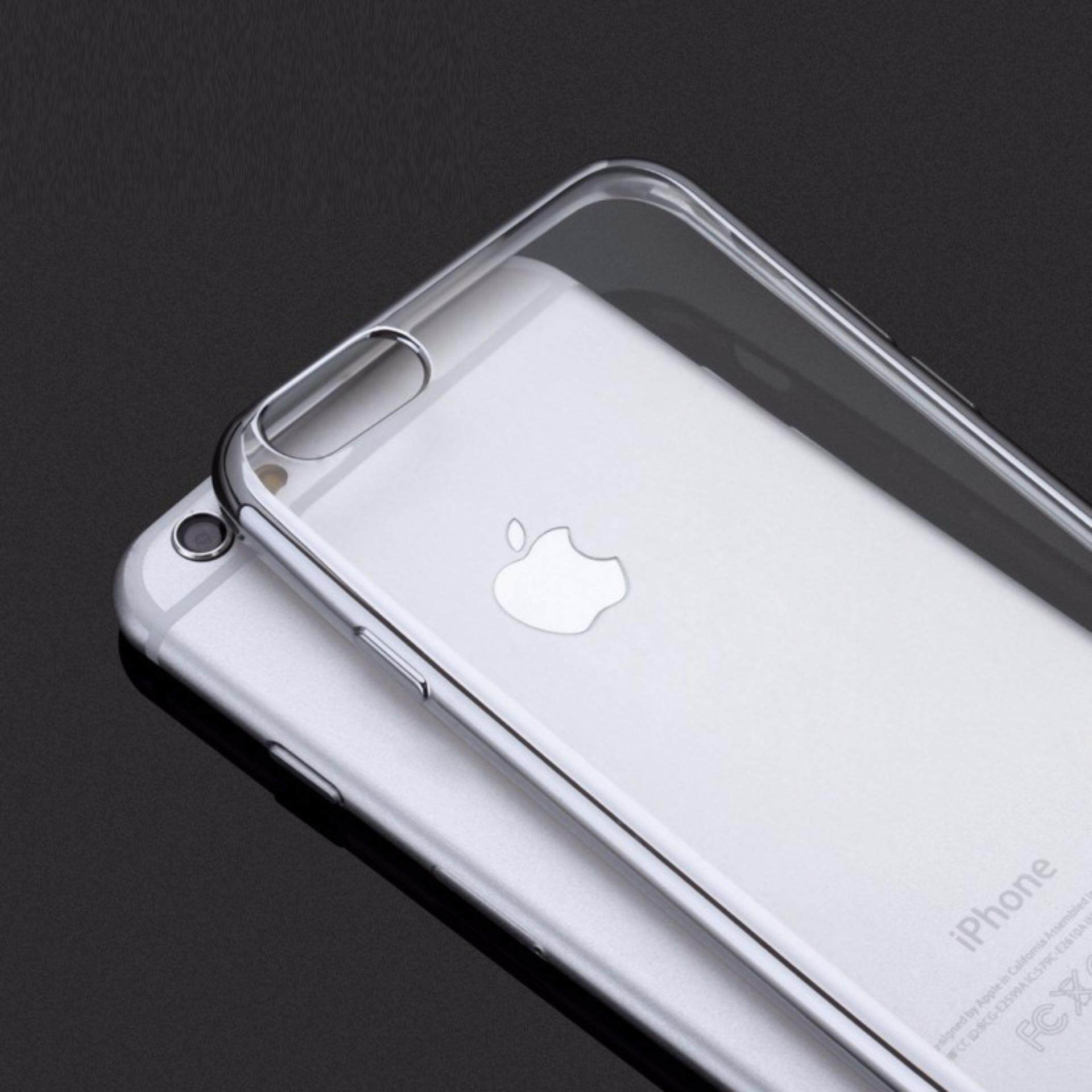 factory price 43460 66f54 ViLi Apple iPhone 6 Plus 6s Plus TPU Silicone Ultrathin Luxury Slim  Electroplating Crystal Clear Transparent Soft Back Cover Case Covers  (Silver) FREE ...