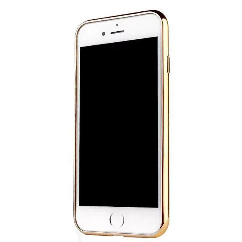 ViLi Apple iPhone 7 TPU Silicone Ultra thin Luxury Slim Electroplating Crystal Clear Transparent Soft Back Cover Case Covers (Luxury Gold) **Free x1 Tempered Glass Worth Rm 39**