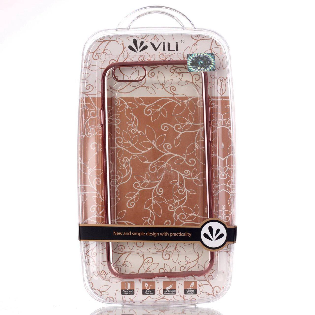 ViLi Apple iPhone 7 TPU Silicone Ultra thin Luxury Slim Electroplating Crystal Clear Transparent Soft Back Cover Case Covers (Rose Gold) **Free x1 Tempered Glass Worth Rm 39**