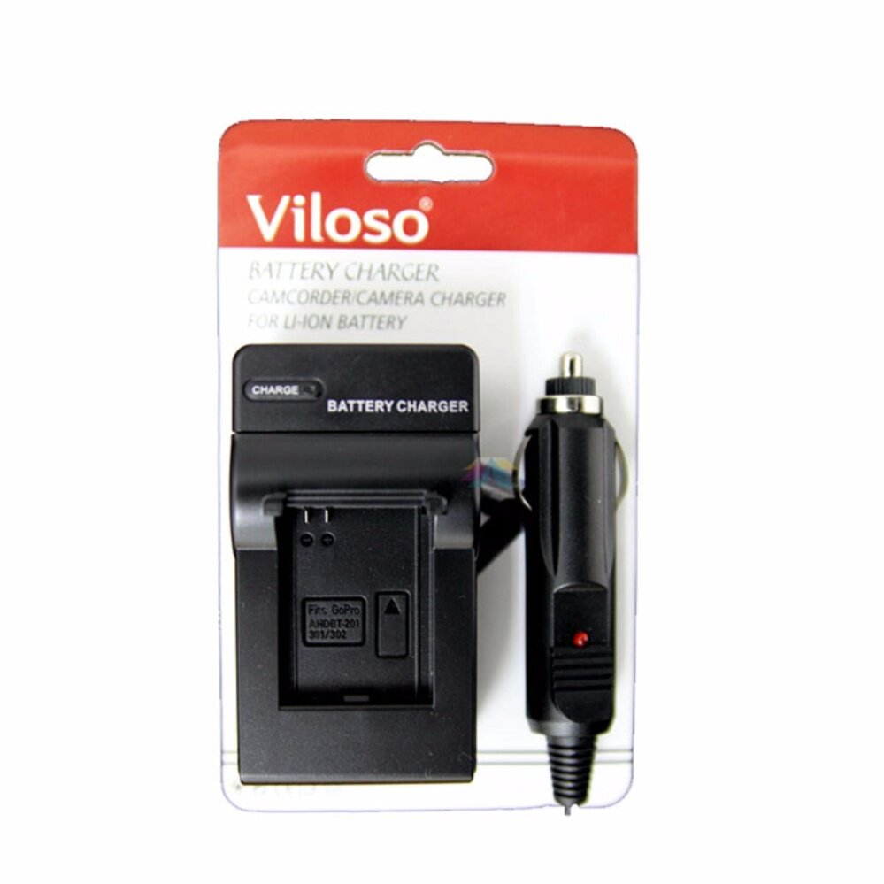 Viloso Camera battery and Car Charger FOR NIKON EN-EL3 EN-El3 for Nikon D100 D200 D300 D50