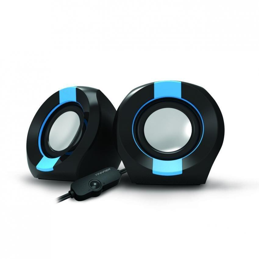 VINNFIER Icon 202 USB Portable Speaker (BLACK BLUE) Malaysia