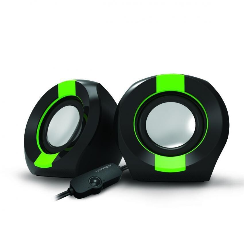 VINNFIER Icon 202 USB Portable Speaker (BLACK GREEN) Malaysia