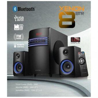 Harga Vinnfier Xenon 8 BTR Connected Speaker to any Portable Player 3.5mmAudio Jack.