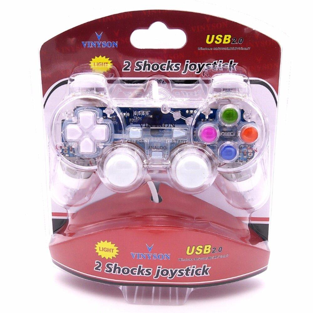 Vinyson Light Pc joystick double handle doubles vibration game controller computer
