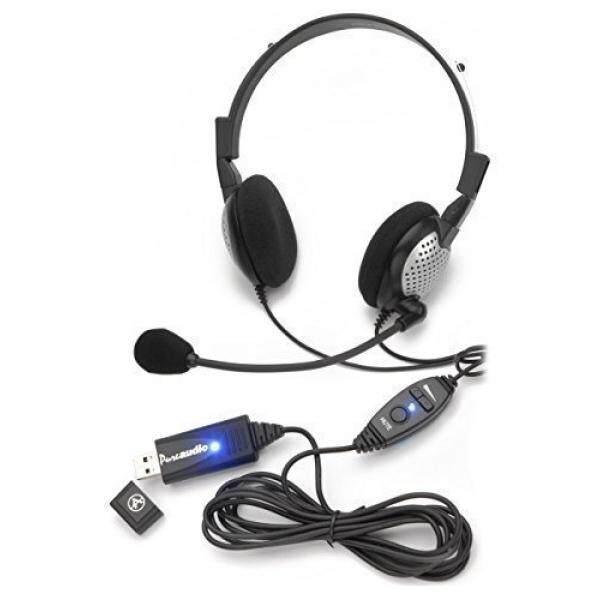 Suara Recognition USB Headset dengan Kebisingan Cancelling Mikrofon untuk Nuansa Perangkat Lunak Pengenalan Suara Naga-Internasional