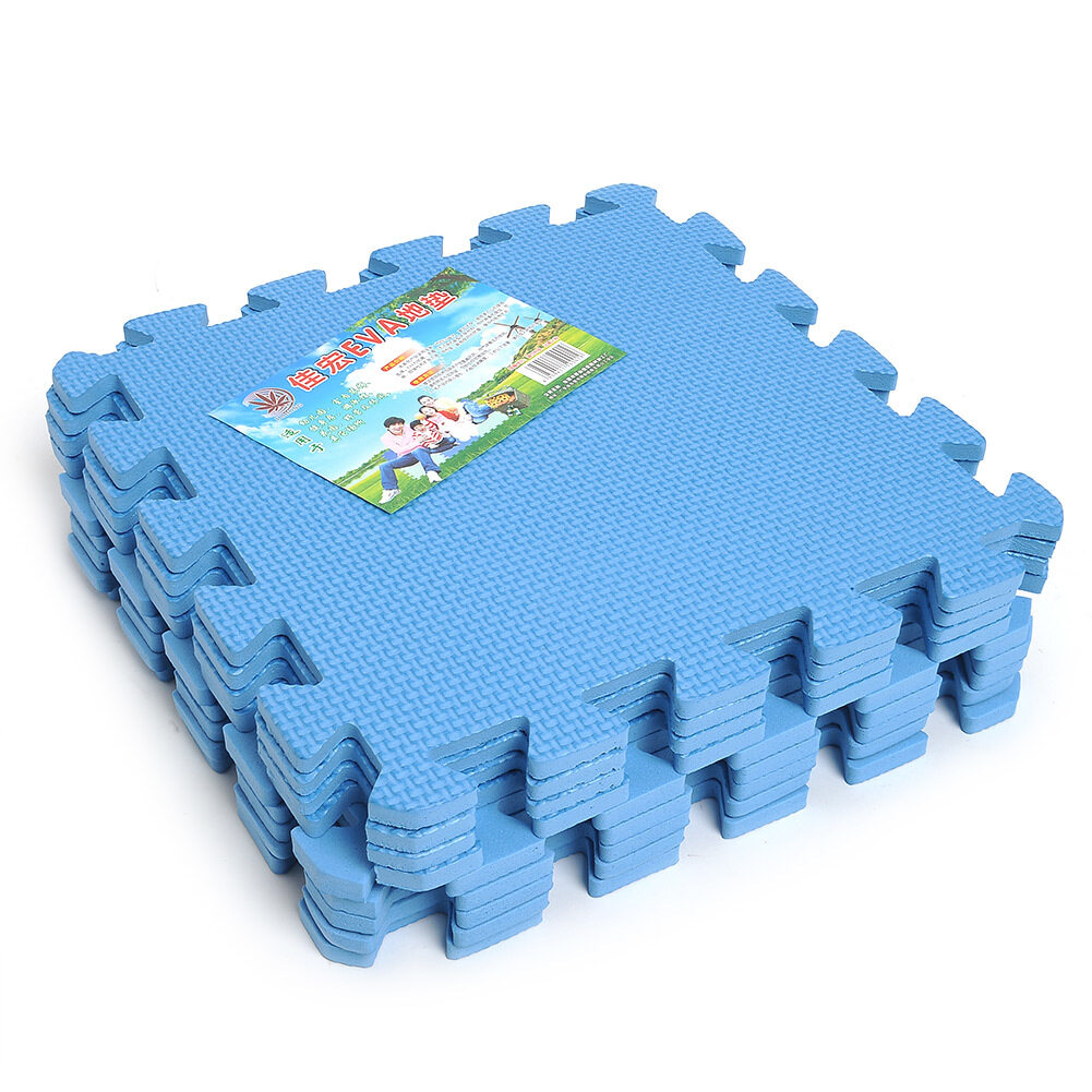Hình ảnh Waterproof Puzzle Floor Mats 9-piece Set - Intl - intl