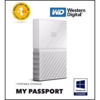 WD Western Digital HDD My Passport ( 1TB ) Portable StorageExternal Hard Disk Drive - White