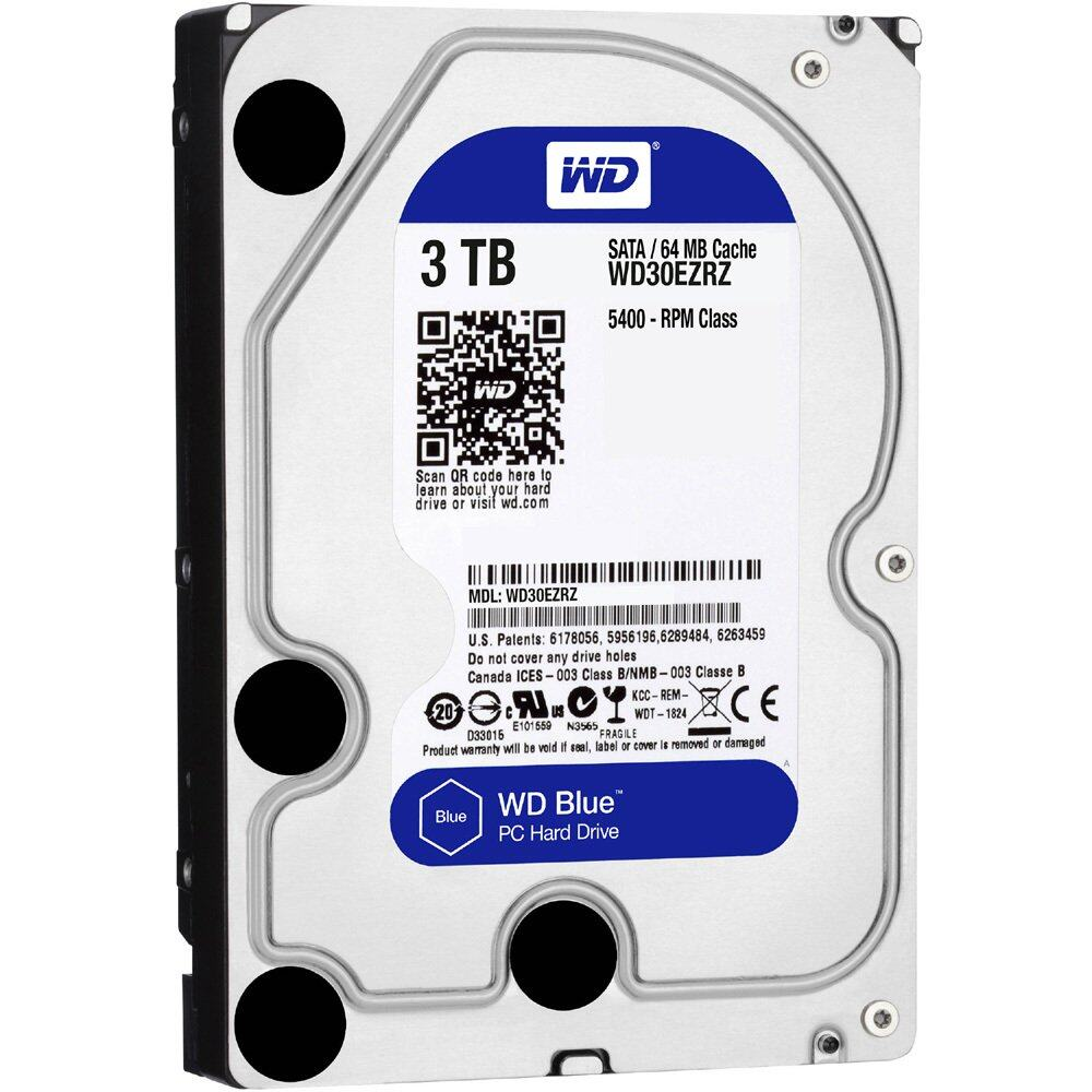 Western Digital WD Blue 3000GB / 3TB Internal 3.5 Sata Hard Drive 5400RPM 64MB Cache For Desktop PC