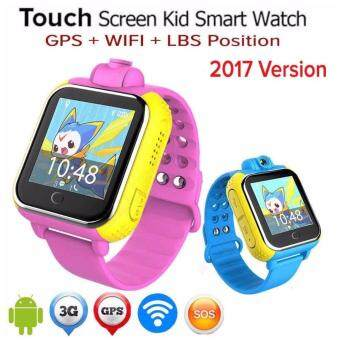 Harga WIFI/3G/2G/GPS Children Kid Smart Watch Wrist Pedometer TrackerPink Color Camera SmartWatch(Blue)