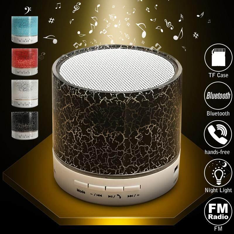 Wireless Bluetooth Speaker USB LED Flash FM Radio Stereo Super Bass MP3 Player - intl