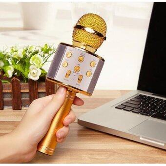 Harga WSTER WS858 Wireless Microphone with Mic Speaker Condenser MiniKaraoke Player with 3.5mm Jack for IOS/Android (FMRadio/MMC/USB/Bluetooth) Ready Stock (Fast Delivery!!!)!