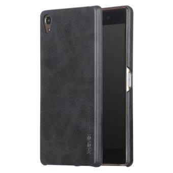 X-LEVEL Vintage Series Leather Coated Hard Case for Sony Xperia Z5 Premium / Dual - Black