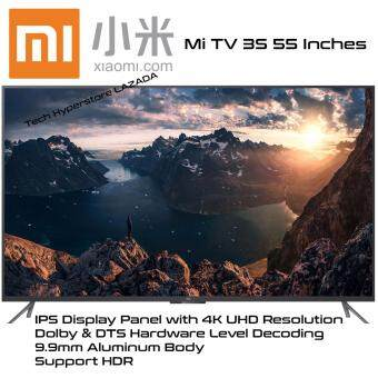 Harga Xiaomi L55M5-AA Mi TV 3S 55 Inches 4K Ultra HD Smart TV Support HDRTechnology (Black)