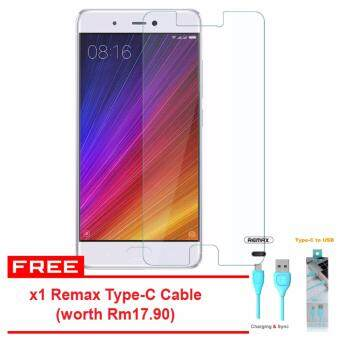 Harga Xiaomi Mi 5s Amazing Elite HD Tempered HD Glass Screen Protector + Free x1 Remax Type-C Data & Charging Cable