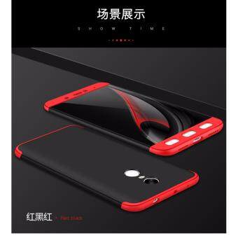 Xiaomi Redmi Note 4 (SNAPDRAGON)/ Note 4x (SNAPDRAGON) GKK 360 Degree Full Covered Matte Case Cover Casing (Black Red)