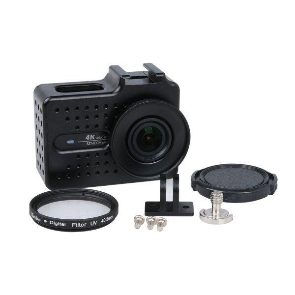 ... Xiaoyi Yi II 4 K Olahraga Kamera Aksi CNC Kerangka Paduan Aluminium Case Pelindung dengan Lensa