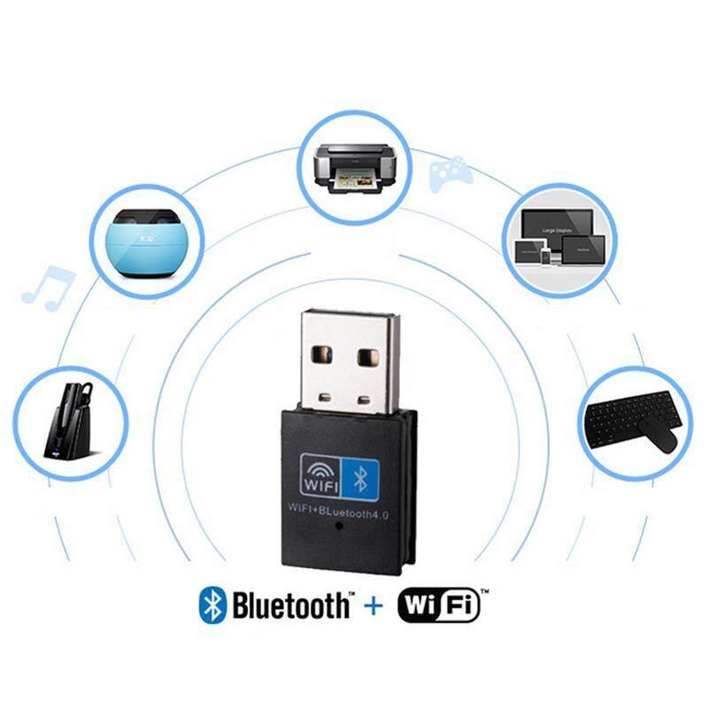 YBC 2 Dalam 1 Nirkabel Usb Adaptor 150 Mbps WIFI Bluetooth 4.0 Penerima untuk Buah Komputer-Internasional