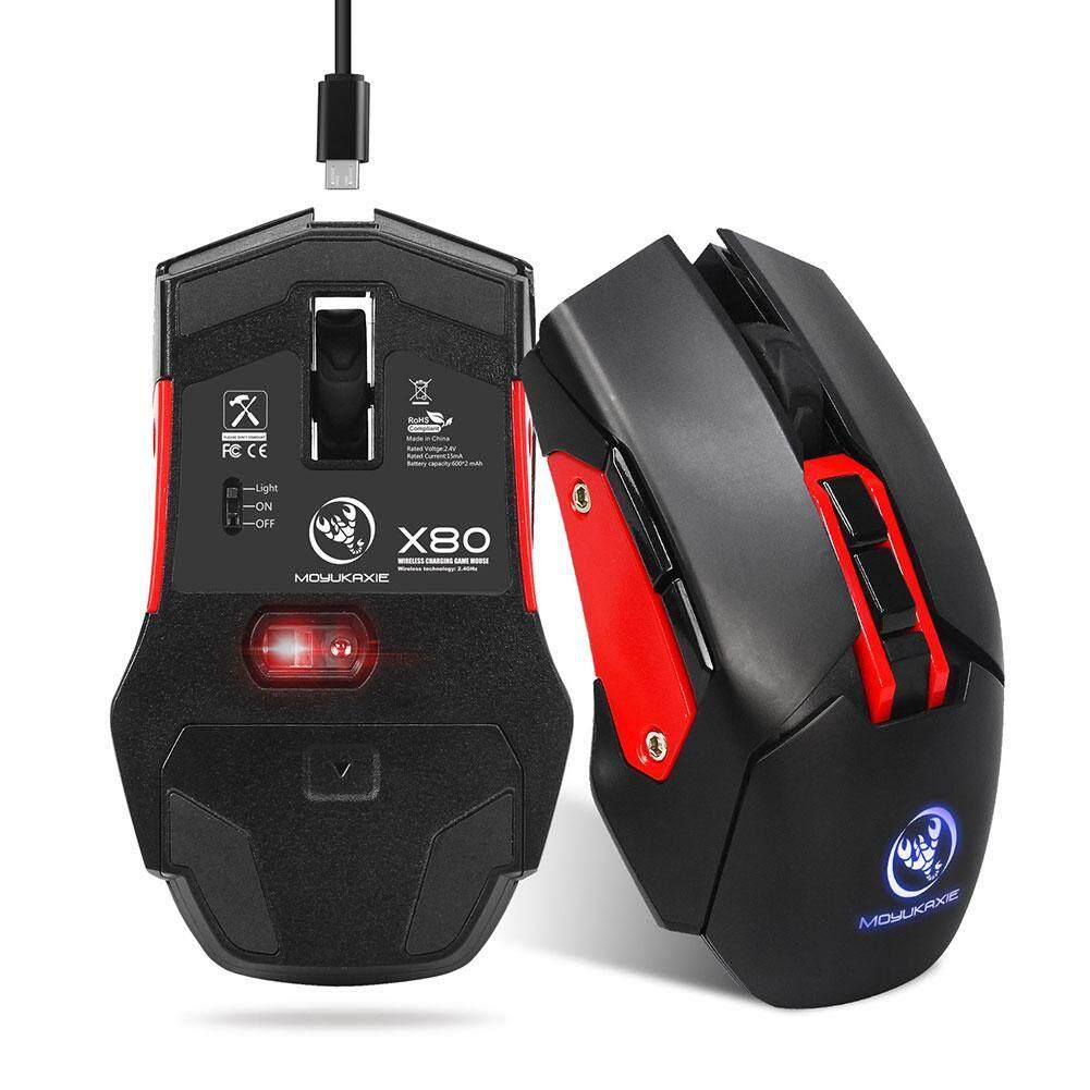 ... YBC 2.4G Mute Nirkabel Mouse Ergonomi Optik Baterai Isi Ulang Permainan Mouse-Internasional ...