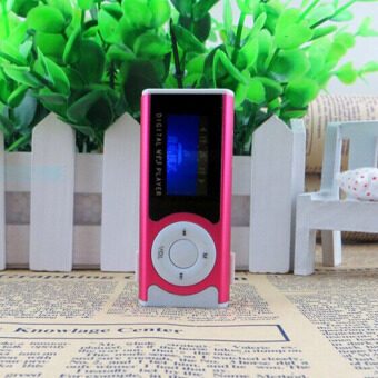 YBC LCD Screen Mp3 Music Player Mini Clip Support SD TF Card - RoseRed