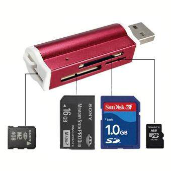 Harga YBC Multi-colored USB2.0 Memory Card Reader for Micro SD MMC SDHCTF Card