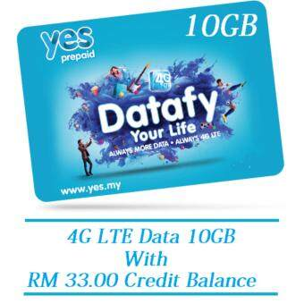 YES 4G LTE 10GB+RM35 Credit Balance Prepaid Sim Pack
