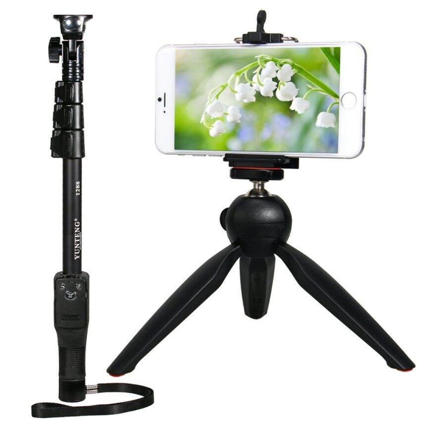 Yunteng 1288 Dapat Diperpanjang Bluetooth Shooting Monopod untuk Kamera Digital Iphone 6 S-Internasional