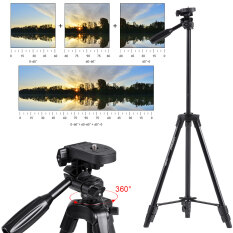 YUNTENG VCT 520RM Portable Aluminum Alloy Lightweight Tripod With Universal Smartphone Mount For Sony ILDC Digital Camera Outdoorfree
