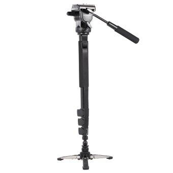 YUNTENG VCT-588 Extendable Telescoping Monopod with Detachable Tripod Stand Base Fluid Drag Head for DSLR Camera Camcorder ...