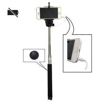 Harga Z07-5S Mobile Phone Monopod Selfie Stick Self Portrait Pole with Remote Shutter Button 3.5mm Cable for iPhone 4S 5 5S 6 6 Plus / Samsung Galaxy S4 S5 S6 / HTC etc